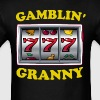 Gamblin' Granny Funny Slot Machine Grandma - Men's T-Shirt