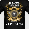 Kings Are Born In June 20th - Men's T-Shirt