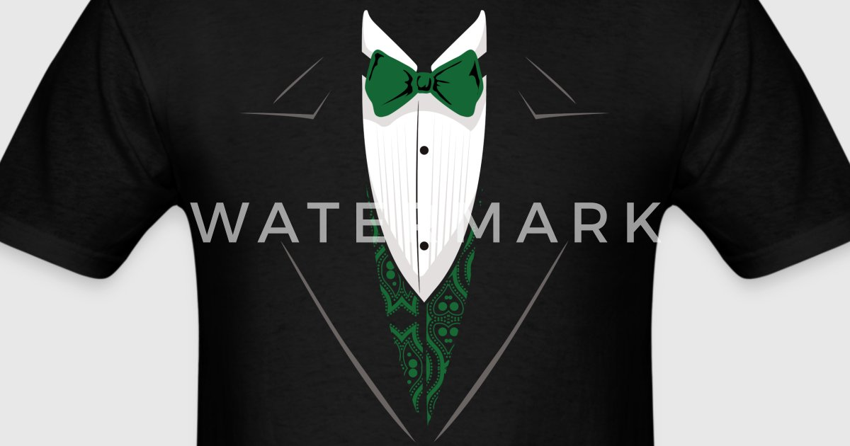 Green tuxedo t shirt by tesleytees spreadshirt for Make your own tuxedo t shirt