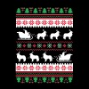 Shetland Sheepdog Santa's Reindeer Christmas Ugly  - Men's T-Shirt