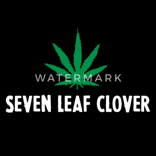 Marijuana The Seven Leaf Clover By Funny Vector