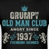 Grumpy Old Man Club Since 1937 Founder Member Tees - Men's T-Shirt