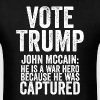 Vote Trump John Mccain Pro Election President - Men's T-Shirt