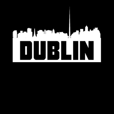 Dublin Ireland Skyline Silhouette - Men's T-Shirt