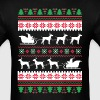 German Shorthaired Pointer Santa's Reindeer Christ - Men's T-Shirt