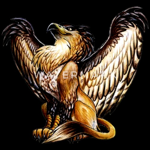 Griffin mythical creature men 39 s t shirt spreadshirt - A picture of a griffin the creature ...