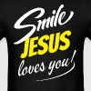 SMILE JESUS LOVES YOU - Men's T-Shirt
