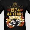 1974 44 Years Of Being Awesome - Men's T-Shirt