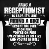 Being A Receptionist... - Men's T-Shirt