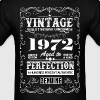 Premium Vintage 1972  Aged To Perfection - Men's T-Shirt