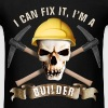 builder_pick_skull_c - Men's T-Shirt