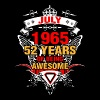 July 1965 52 Years of Being Awesome - Men's T-Shirt