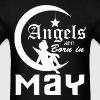 Angels are Born in May - Men's T-Shirt