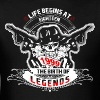 Life Begins at Eighteen 1999 The Birth of Legends - Men's T-Shirt