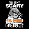 This is my Scary Civil Engineer Costume - Men's T-Shirt