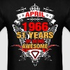 April 1966 51 Years of Being Awesome - Men's T-Shirt