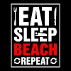 Eat Sleep Beach Repeat - Men's T-Shirt