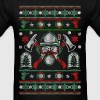 Ugly Christmas Sweater for Firefighter - Men's T-Shirt