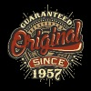 Birthday guaranteed since 1957 - Present - Men's T-Shirt