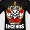 Life Begins at 60 1957 the birth of Legends - Men's T-Shirt