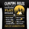 Camping rules – Time to relax and explore - Men's T-Shirt