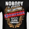 Nobody is Perfect But I am From Norwegian and Its  - Men's T-Shirt