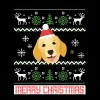 Golden Retriever Santa Snow Christmas T-Shirt - Men's T-Shirt