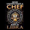 Never Underestimate A Chef Born As Libra - Men's T-Shirt