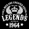 Legends are Born in 1964 - Men's T-Shirt