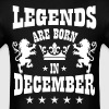 Legends are born in December Lions Crown Birthday - Men's T-Shirt
