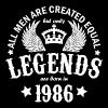 Legends are Born in 1986 - Men's T-Shirt