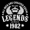 Legends are Born in 1982 - Men's T-Shirt