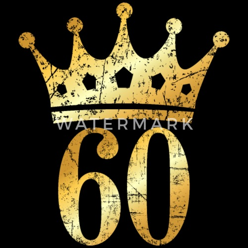 60th Birthday & Anniversary Crown (Vintage Gold) By
