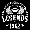 Legends are Born in 1962 - Men's T-Shirt