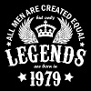 Legends are Born in 1979 - Men's T-Shirt
