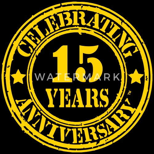 Celebrating 15 Year Anniversary By Crazy4tshirts Spreadshirt