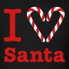 I Heart Santa (for dark) - Men's T-Shirt