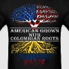 American Grown With Colombian Roots - Men's T-Shirt