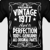 Premium Vintage 1977 Aged To Perfection 100% Genui - Men's T-Shirt