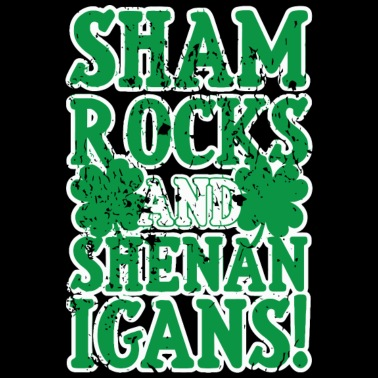 Shamrock - shamrocks and shenanigans, four leaf - Men's T-Shirt