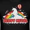 Heavy Metal (Unicorn and Rainbow) - Men's T-Shirt