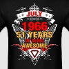 July 1966 51 Years of Being Awesome - Men's T-Shirt