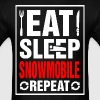 Eat Sleep Snowmobile Repeat - Men's T-Shirt