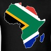 South Africa Flag In Africa Map - Men's T-Shirt