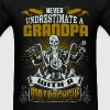Motorcycle - Grandpa with a motorcycle cool shirt - Men's T-Shirt