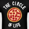 The Circle Of Life Pizza - Men's T-Shirt