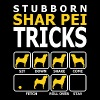 Stubborn Shar Pei Dog Tricks - Men's T-Shirt