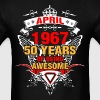 April 1967 50 Years of Being Awesome - Men's T-Shirt