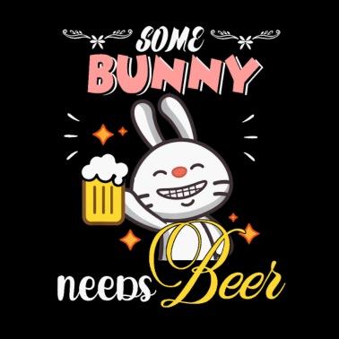 Bunny Beer Boobs Shirt Funny Easter Beer Tshirt Mens T Shirt