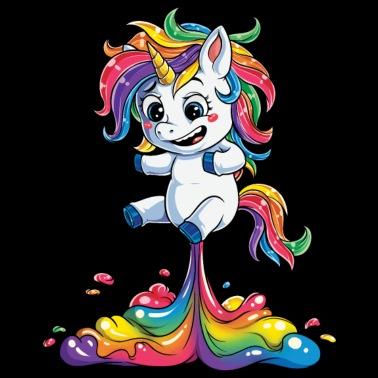 b8f3dd83 Unicorn Fart T shirt Squad Girls Kids Rainbow Party Gifts Tees Women Men - Men's  T